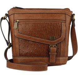 Amherst Ostrich Texture Crossbody Handbag