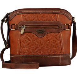 B.O.C. Woven Panel Crossbody Handbag