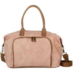 Madden Girl Blush Two Tone Weekender Bag