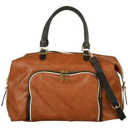 Madden Girl Tri Tone Buckle Weekender Bag