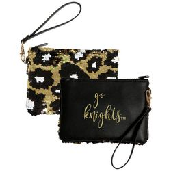 UCF Knights Claire Sequin Wristlet By DESDEN