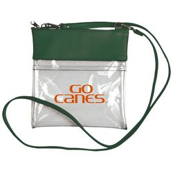 Miami Hurricanes Clear Gameday Crossbody By DESDEN