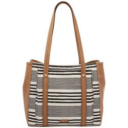 RELIC by Fossil Striped Bailey Double Shoulder Tote Handbag