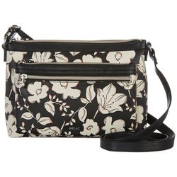 Relic Evie East West Black Floral Crossbody Handbag