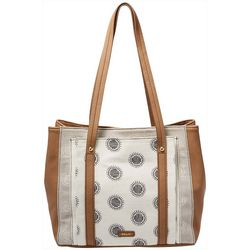 Printed Bailey Double Shoulder Tote Handbag