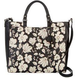 Relic Black Floral Print Felicity Satchel Handbag