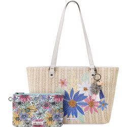 Pastel Flower Garden Meadow Tote Handbag