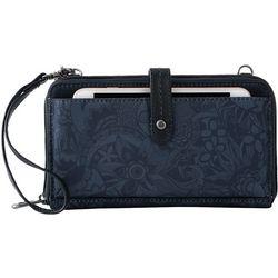Sakroots Large Smartphone Indigo Floral Crossbody Handbag