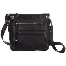 Rustego Triple Zip Crossbody Handbag