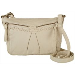 Bueno Collection Womens Zippered Braided Crossbody