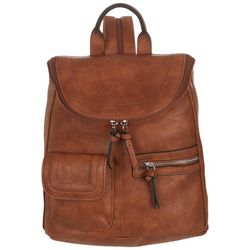 Bueno Rustego Solid Faux Leather Backpack