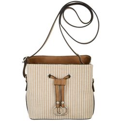 Bueno Lurex Striped Crossbody Handbag