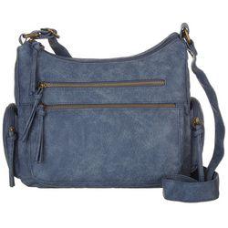 Bueno Antique Wash Zippered Shoulder Handbag