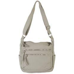 Bueno Vintage Washed Solid Double Zip Handbag