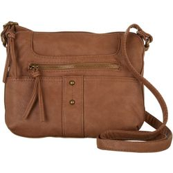 Bueno Solid Vintage Wash Crossbody Handbag