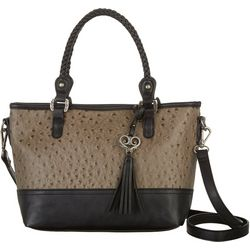 Bueno Embossed Ostrich Crossbody Handbag