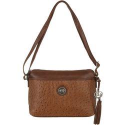 Bueno Embossed Ostrich Handbag