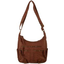 Bueno Grainy Wash Zip Compartment Crossbody Handbag