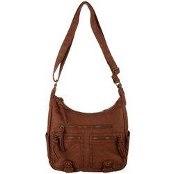 Bueno Grainy Wash Zip Compartment Crossbody Handbag
