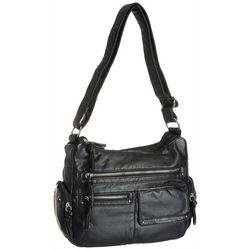 Bueno Large Stud Detail Cargo Pocket Solid Crossbody Handbag