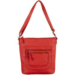 Bueno North/South Whipstitched Crossbody Handbag