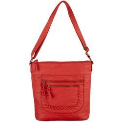 North/South Whipstitched Crossbody Handbag