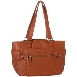 Bueno Solid Vintage Wash Double Handled Handbag