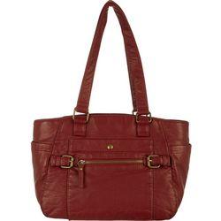 Bueno Solid Vintage Wash Double Handle Handbag