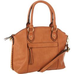 Solid Studded Soft Grain Satchel