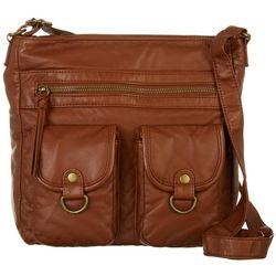 Bueno Double Pocket Crossbody Handbag