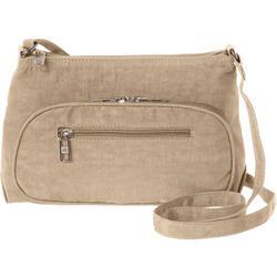 Crushed Nylon Adjustable Crossbody Handbag