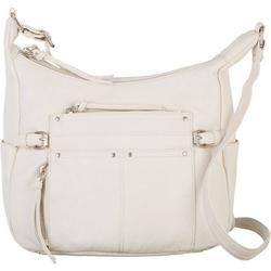 Washed Grainy Double Zipper Handbag