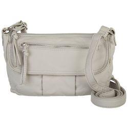 Bueno Grain Wash Flap Solid Crossbody Handbag