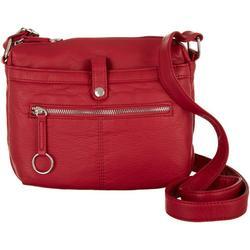 Grainy Multi Zip Crossbody Handbag