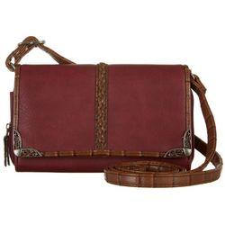 Bueno Mixed Media Braid Crossbody Handbag