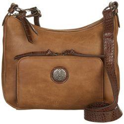 Bueno Mixed Media Shoulder Handbag