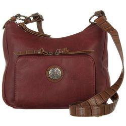 Bueno Solid Mixed Media Shoulder Handbag