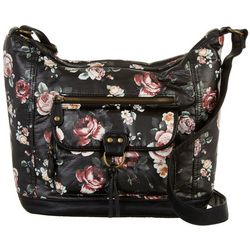 Bueno Floral Printed Front Pocket Shoulder Handbag