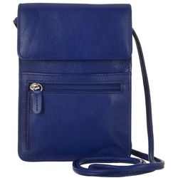Great American Leather Soft Flap Crossbody Organizer Handbag