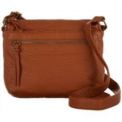 Bueno Solid Vintage Grain Crossbody Handbag