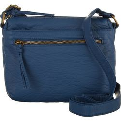 Bueno Solid Grain Crossbody Handbag