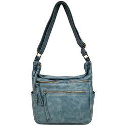 Bueno Multiple Zip Crossbody Handbag