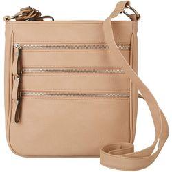 Bueno Triple Zipper Front Crossbody Handbag