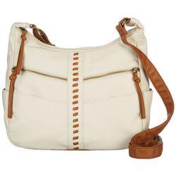 Bueno Double Zipper Crossbody Handbag