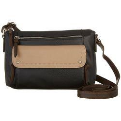 Bueno Tri-Tone Charging Crossbody Handbag