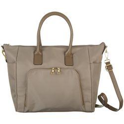Bueno Solid Nylon Tote Handbag