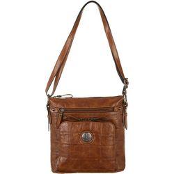 Bueno Croco Texture Crossbody Handbag