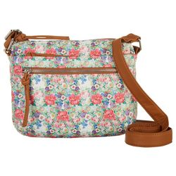 Bueno Grainy Washed Floral Print Crossbody Handbag