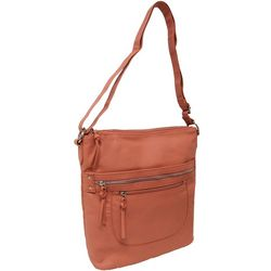 North/South Triple Compartment Crossbody Handbag