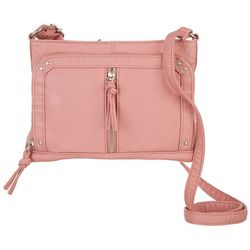 Bueno Washed Grainy Solid Crossbody Handbag
